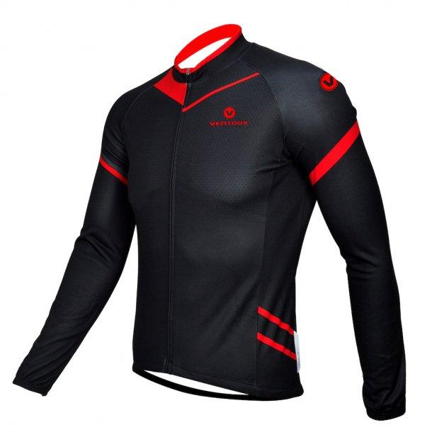Ventoux thermal jersey, sort/rød   Jerseys