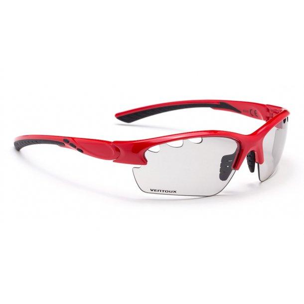 Ventoux Pro Vision cykelbrille, Fotochrome, rød | Briller