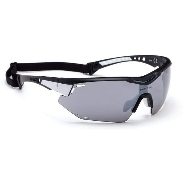 Ventoux Titan cykelbrille, mat sort/hvid | Briller