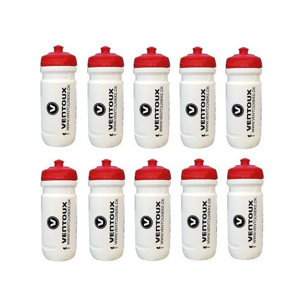 10 stk. BORN / Ventoux drikkeflasker (600 ml), hvid/rød/sort