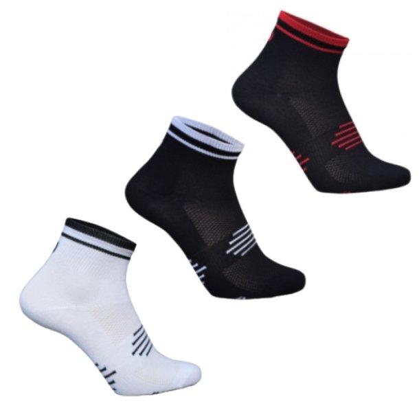 3 par Ventoux Coolmax Bike Socks, hvid+sort+rød | Socks
