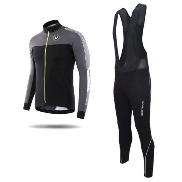 Ventoux Nordic Race jakke og Pro Bib Tights, sort/grå/neon