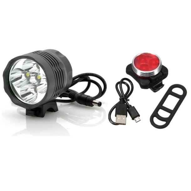 Ventoux High Power LED 2500 Lumen lygte og Circle USB baglygte