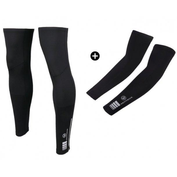 Ventoux Race Thermal Arm & Leg Warmers, Sort | Warmers