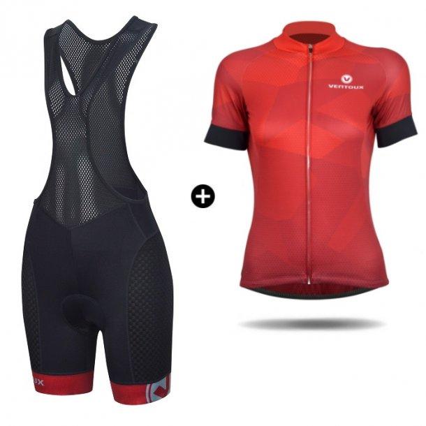 Ventoux Dragon cykelsæt (dame), sort/rød