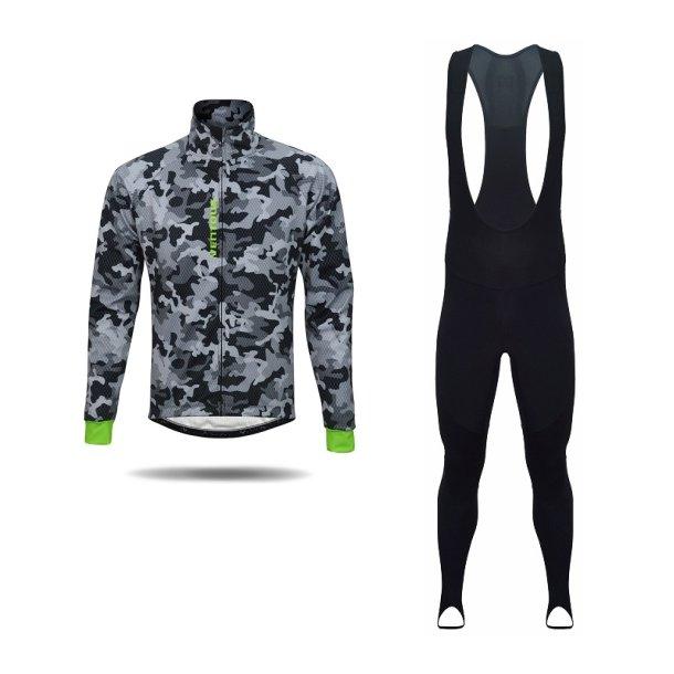 Ventoux Pro vintersæt m. vinterjakke og bib tights, Arctic Camouflage