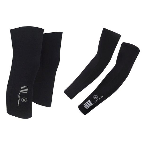 Ventoux Race Thermal Arm & Knee Warmers, Sort