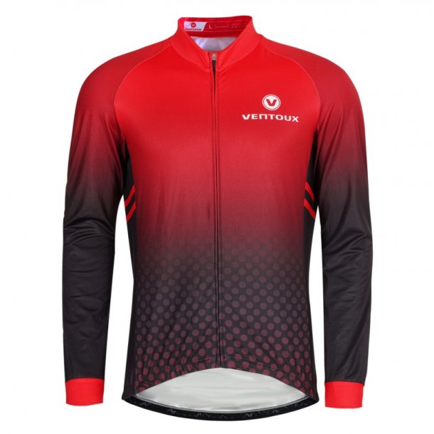Ventoux Thermal LS jersey, black/faded red