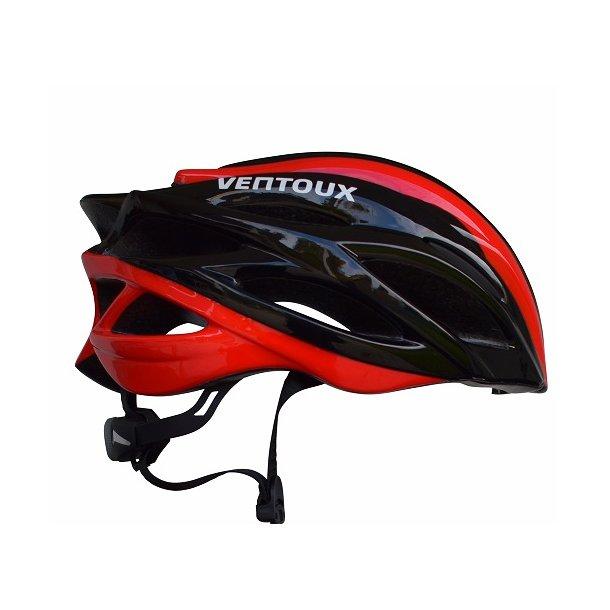 Ventoux Ultra Light II cykelhjelm, sort/rød | Hjelme